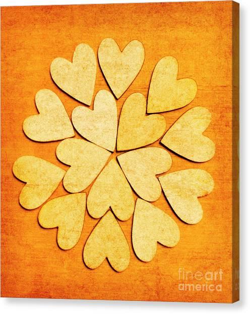 Heart Shape Canvas Print - Love Interlinked by Jorgo Photography - Wall Art Gallery
