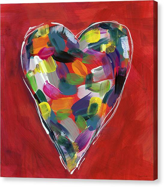 Heart Canvas Print - Love Is Colorful - Art By Linda Woods by Linda Woods