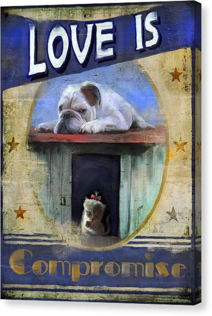 Love Is Compromise Canvas Print by Joel Payne