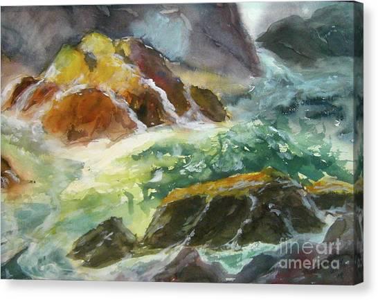 Love Is Cruel Amidst The Raging Sea Canvas Print