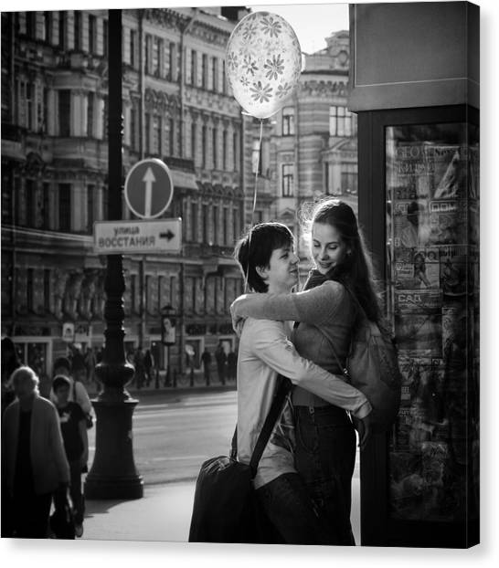 Street Canvas Print - Love Is In The Air by Bj Yang