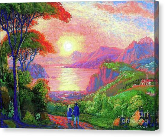 Print On Canvas Print -  Love Is Sharing The Journey by Jane Small