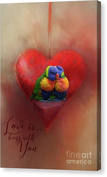 Love Is...being With You Canvas Print