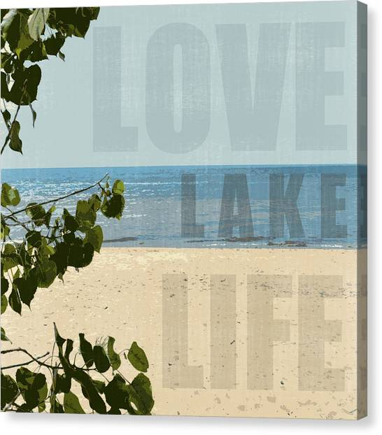 Love Lake Life Canvas Print