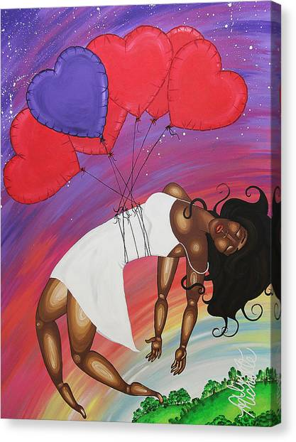 Love Lifts Us Up Canvas Print