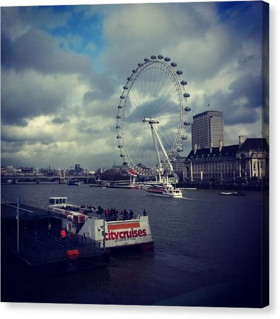 London Eye Canvas Print - The London Eye by Katie Charlton