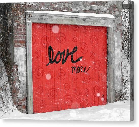 University Of Kansas Canvas Print - Love More by Adam C Johnson