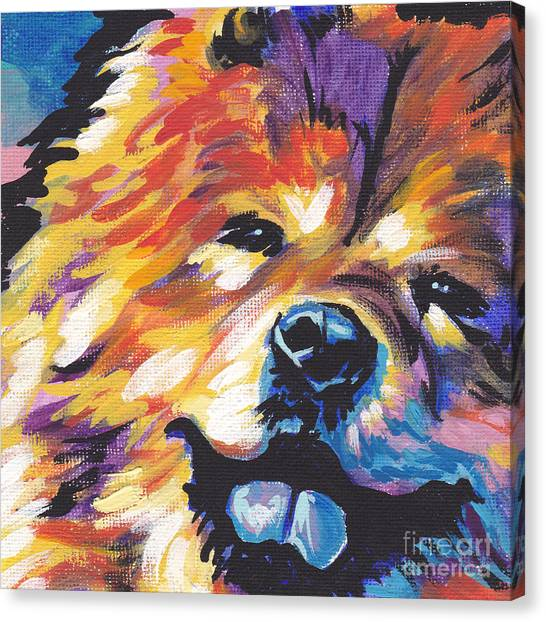 Tongue Canvas Print - Love My Chow by Lea S