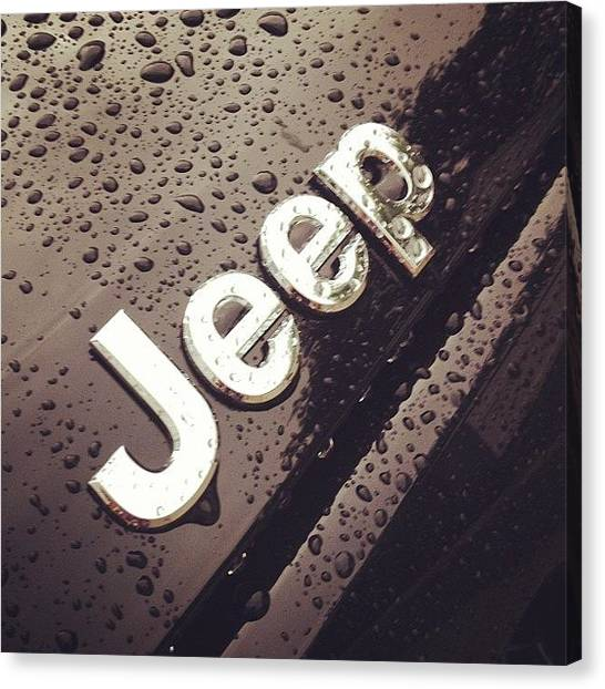 Jeep Canvas Print - Love My Jeep @joeskev by Kim Szyszkiewicz