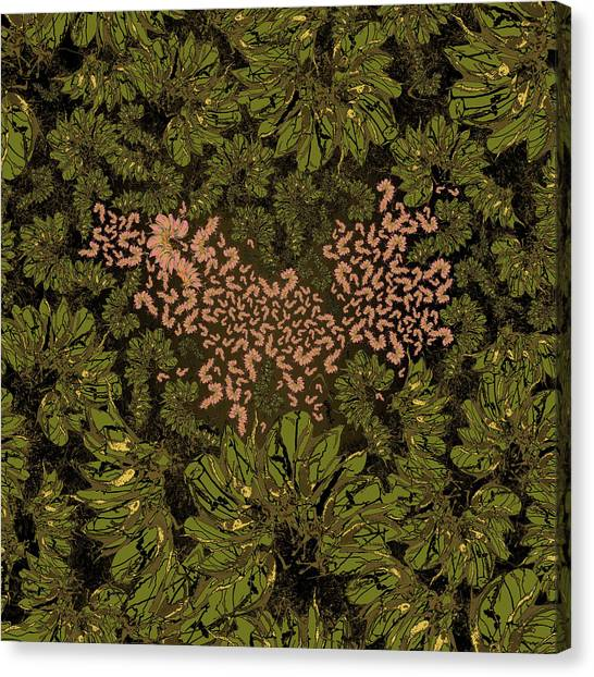 Pink Camo Canvas Print - Love Nest 29 by Kristin Doner