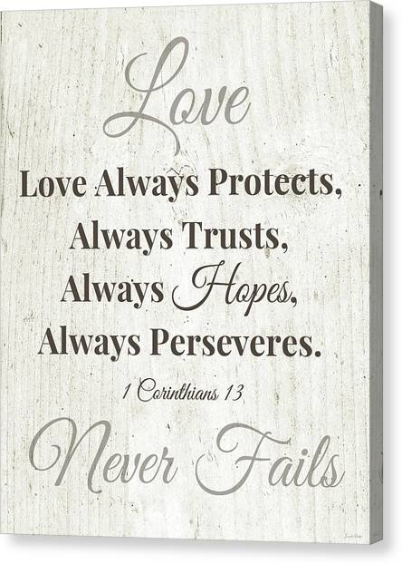Marriage Canvas Print - Love Never Fails- Art By Linda Woods by Linda Woods