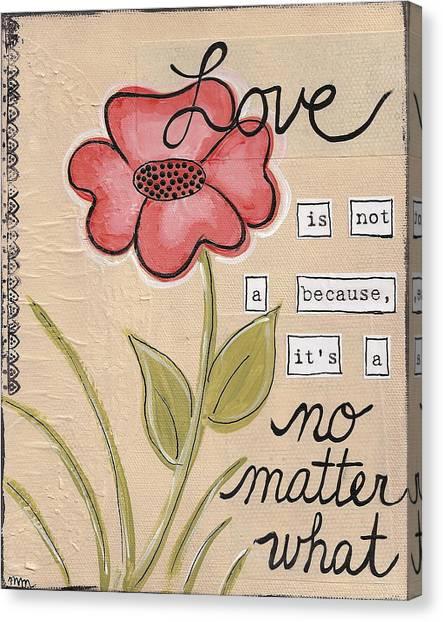 Love No Matter What Canvas Print