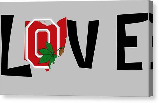 Ohio State University Canvas Print - Love Ohio by Dan Sproul