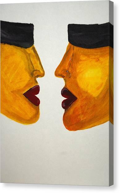 Love-on-line Canvas Print by Irum Iftikhar