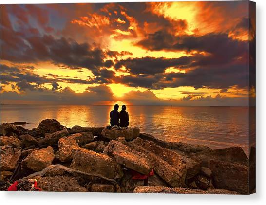 Love On The Rocks Canvas Print