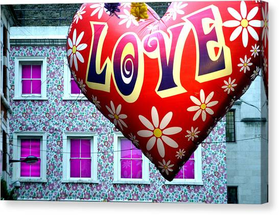 Love On The Roof Tops Canvas Print by Jez C Self