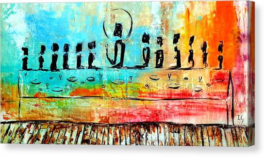 Jerusalem Canvas Print - Love One Another IIl by Ivan Guaderrama