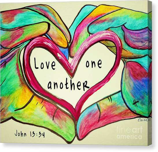 Love One Another John 13 34 Canvas Print