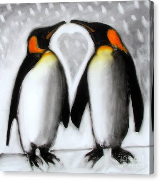 Lovebirds Canvas Print - Love by Paul Powis