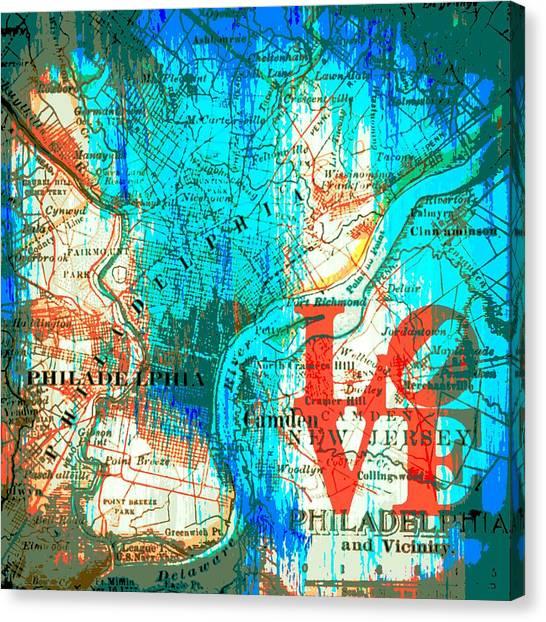 Philly Canvas Print - Love Philadelphia by Brandi Fitzgerald