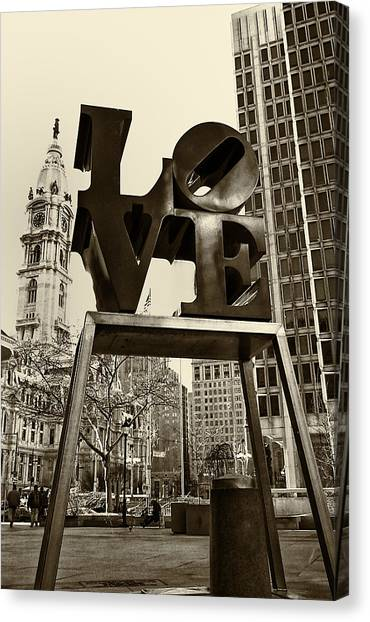 Pennsylvania Canvas Print - Love Philadelphia by Jack Paolini