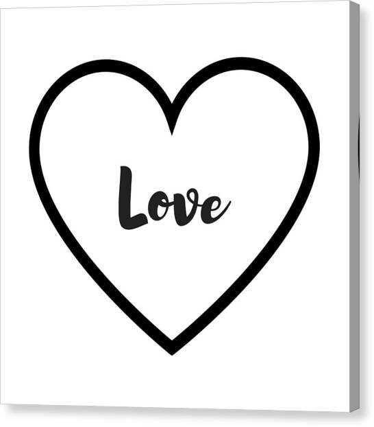 Love Canvas Print - Love by Rosemary Nagorner