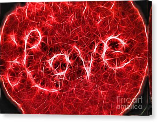Canvas Print featuring the photograph Love Sparks by Patti Whitten