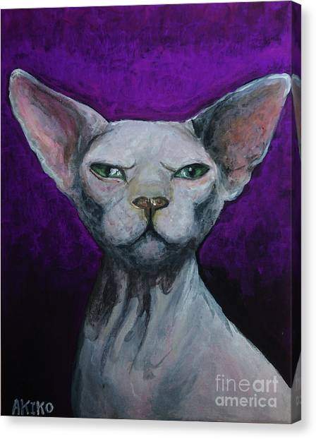 Love Sphynx Cat Canvas Print