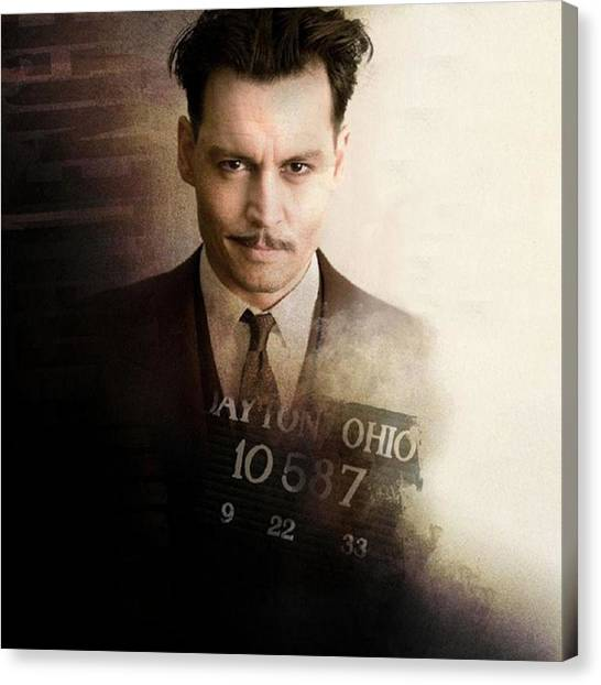 Johnny Depp Canvas Print - Public Enemies by Shana Hirn