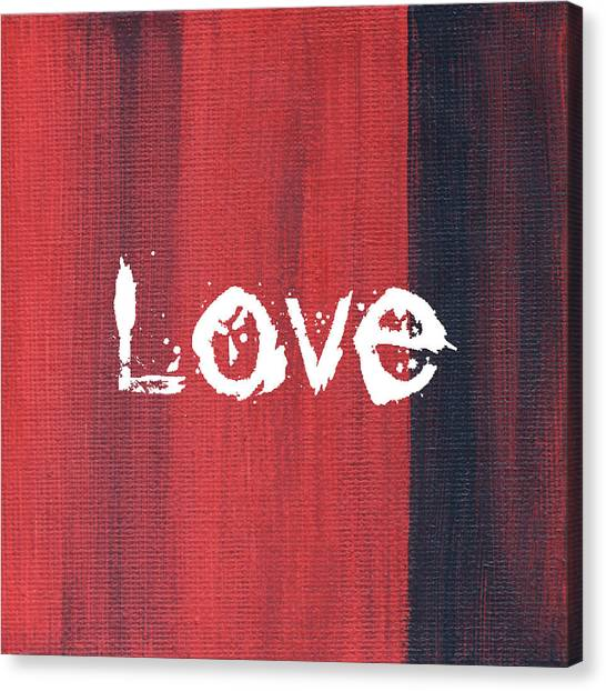 Word Art Canvas Print - Love by Kathleen Wong