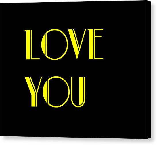 Love You Canvas Print by Jan Keteleer