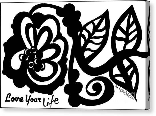 Canvas Print featuring the drawing Love Your Life by Rachel Maynard