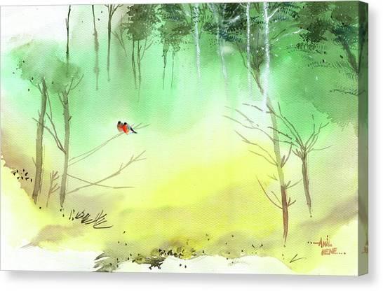 Lovebirds 3 Canvas Print