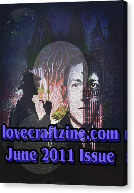 Lovecraftzine Coverpage June Canvas Print