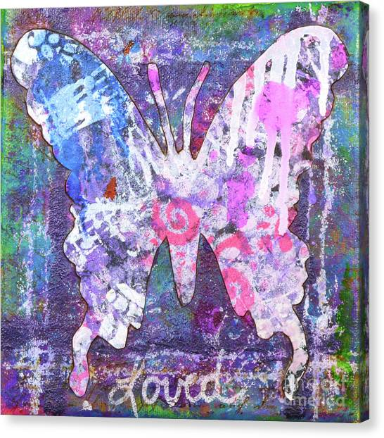 Loved Butterfly Canvas Print