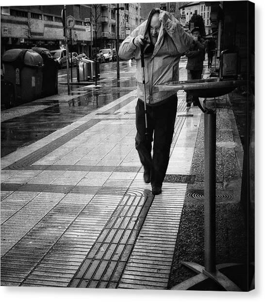 Weather Canvas Print - Lovely Basque Weather #rain #weather by Rafa Rivas