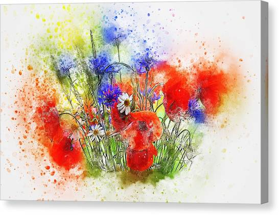 Watercolour Bouquet Canvas Print