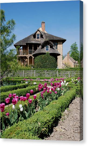 Lovely Garden And Cottage Canvas Print