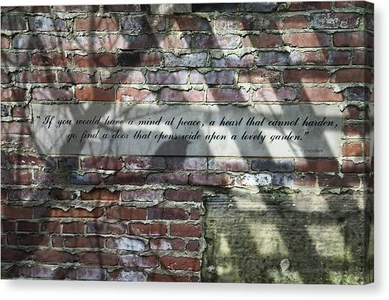 Mortar Canvas Print - Lovely Garden Wall by Tom Mc Nemar