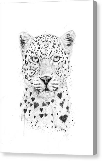 Humor Canvas Print - Lovely Leopard by Balazs Solti