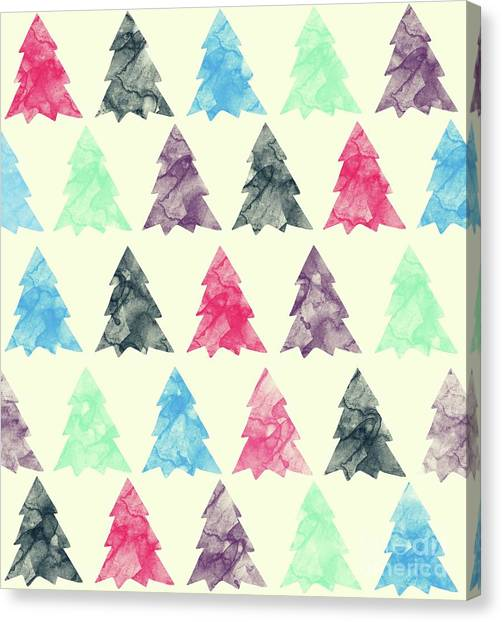 Pine Trees Canvas Print - Lovely Pattern II by Amir Faysal