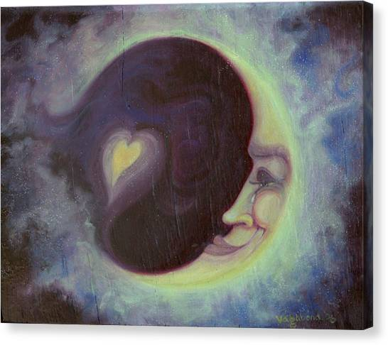 Lovermoon Canvas Print