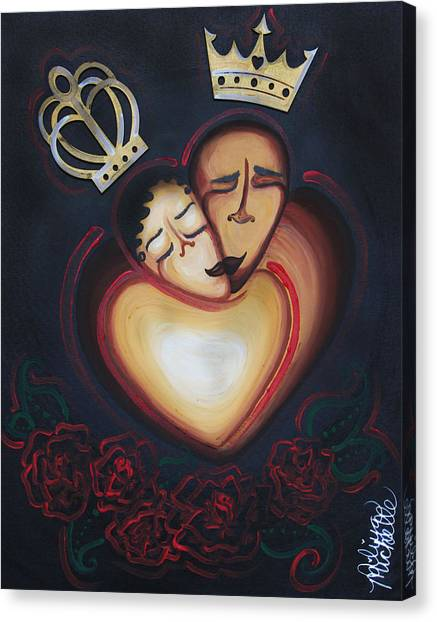 Lovers Embrace Canvas Print