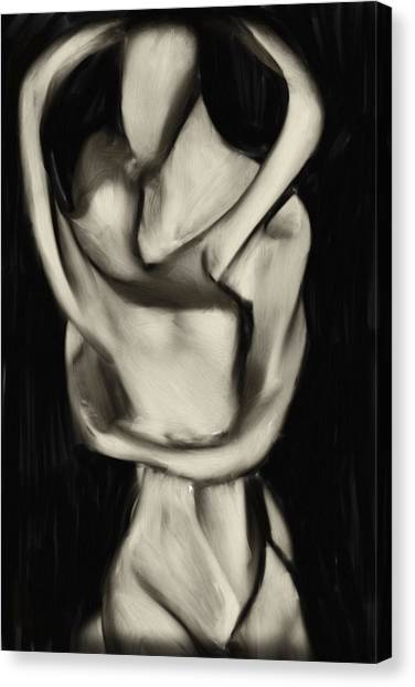 Sensual Canvas Print - Lovers Embrace by David Ridley