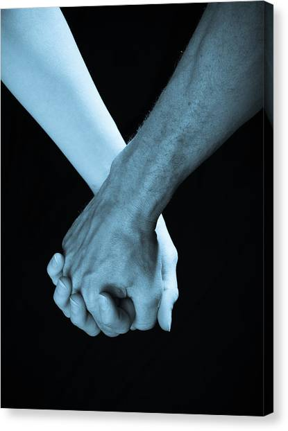 Lovers Hands Canvas Print