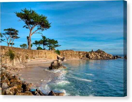 Lovers Point Pacific Grove Early Morning Canvas Print