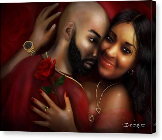 Lovers Portrait Canvas Print
