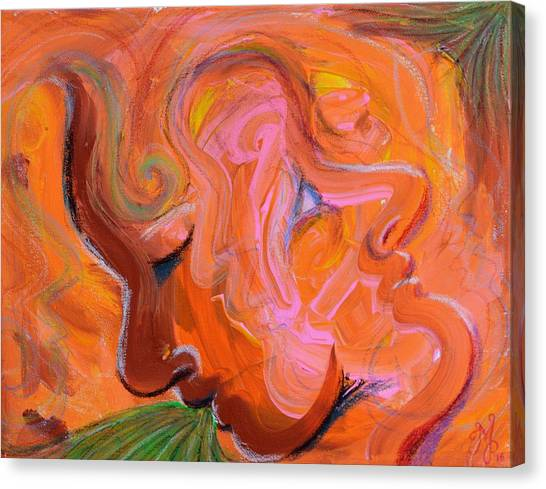 Lovers Quarrel Canvas Print