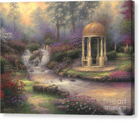 Affordable Canvas Print - Love's Infinity Garden by Chuck Pinson