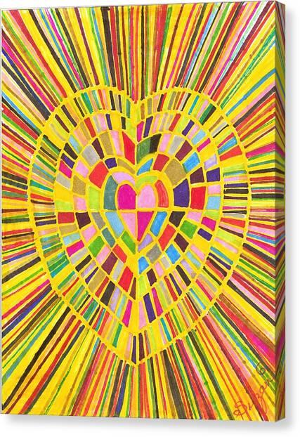 Loveshine Canvas Print by Brenda Adams